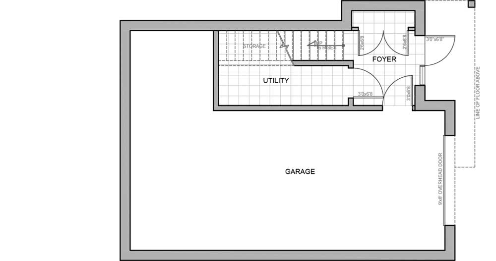 Lower level floor plan - new energy efficient home Invermere BC