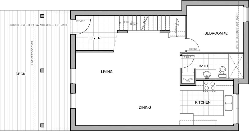 Main floor plan - new energy efficient home Invermere BC